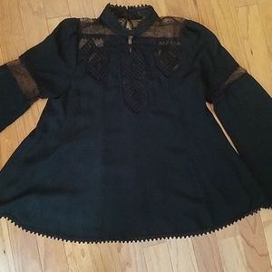 Anna Sui Black blouse